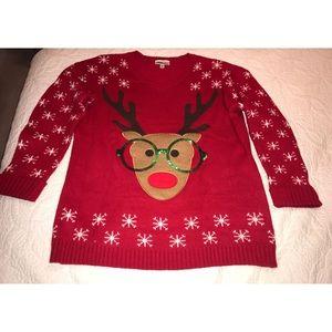Sweaters - Reindeer Christmas Sweater